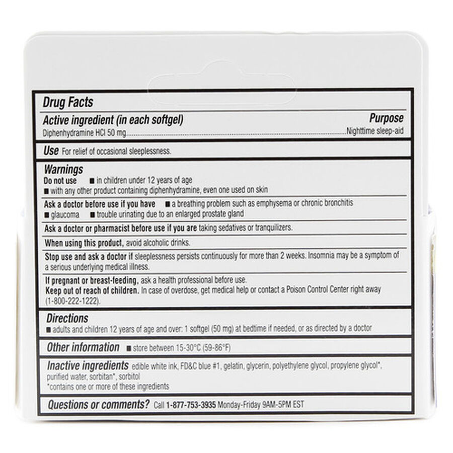 GoodSense® Sleep Aid Maximum Strength Softgel 50 MG , 32 ct, , large image number 1