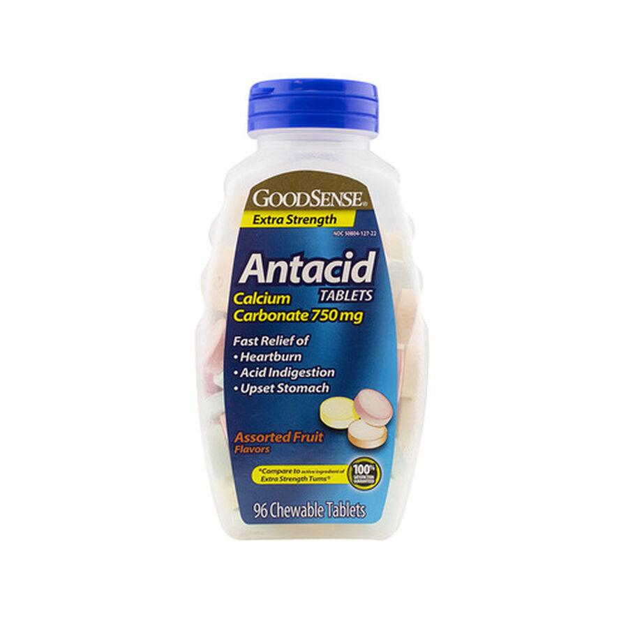 GoodSense® Antacid Calcium Extra Strength Chew Tabs, 96 ct, , large image number 0