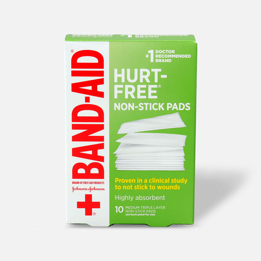 """Johnson & Johnson Band-Aid First Aid Non-Stick Pads 2"""" x 3"""" - 10ct, , large image number 0"""