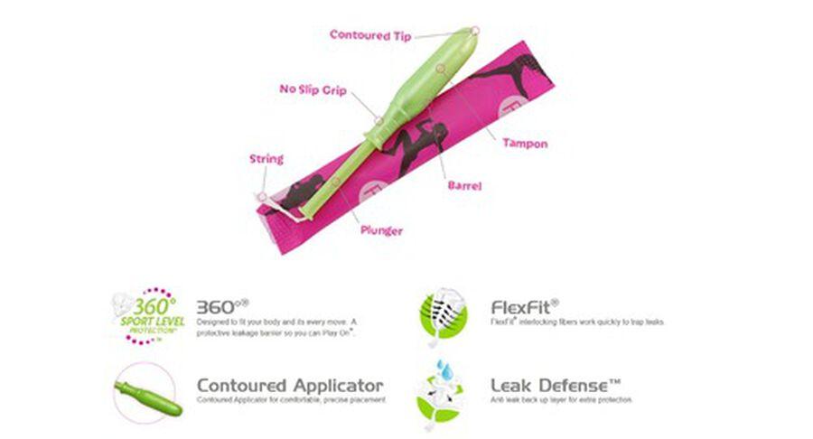 Playtex Sport Multipack Tampons, Unscented, 36ct (Reg/Super), , large image number 2