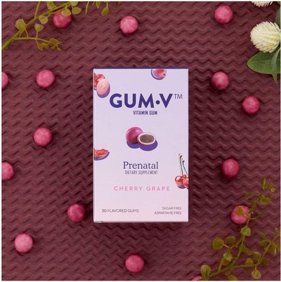 Zahler Gum-V Prenatal Gum, Kosher, 30 Cherry-Grape Flavored Gums, , large image number 3