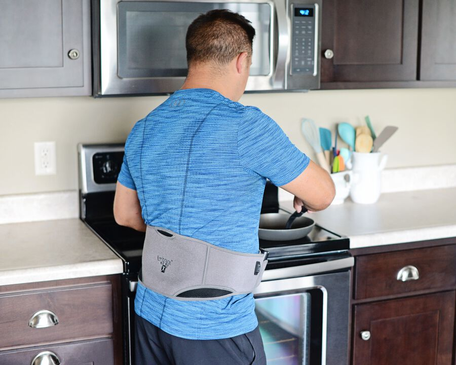Battle Creek Embrace ™ Relief Back Wrap – Portable, 3 Temperature Settings, Auto Shut Off, Wireless & Rechargeable Wrap, Battery-Operated Heat Therapy Wrap for Back Pain Relief, , large image number 7