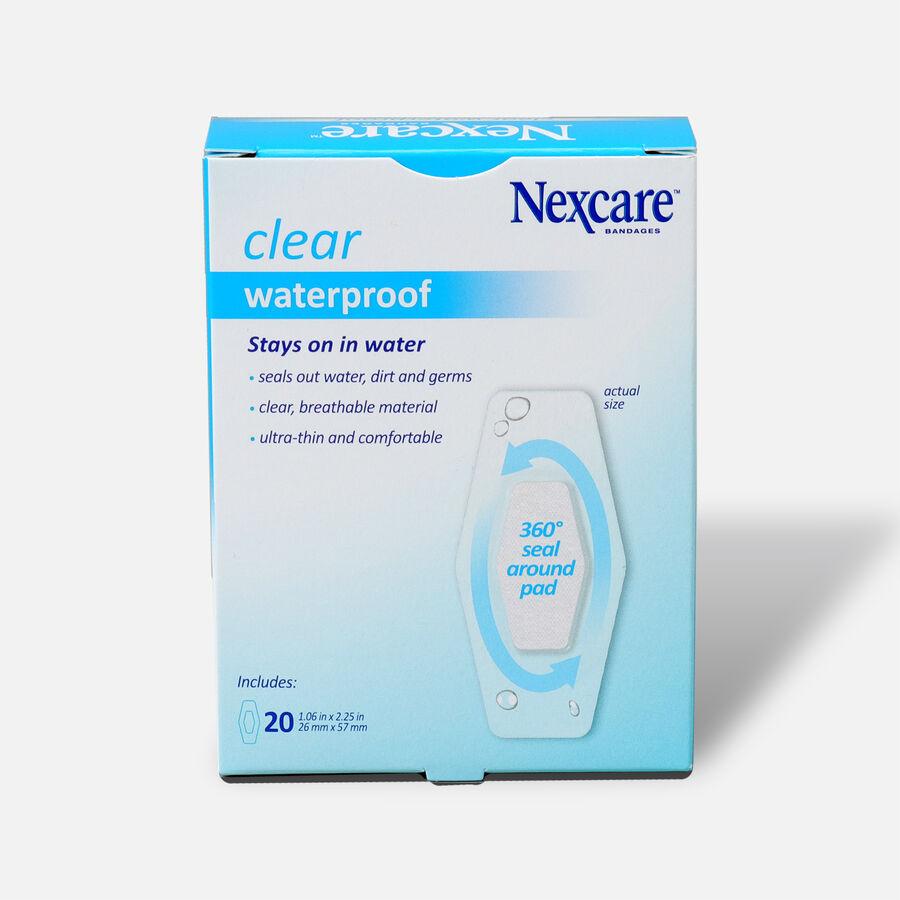 Nexcare Waterproof Clear Bandage, 1 1/16 X 2 1/14, Large, 20 ea, , large image number 1