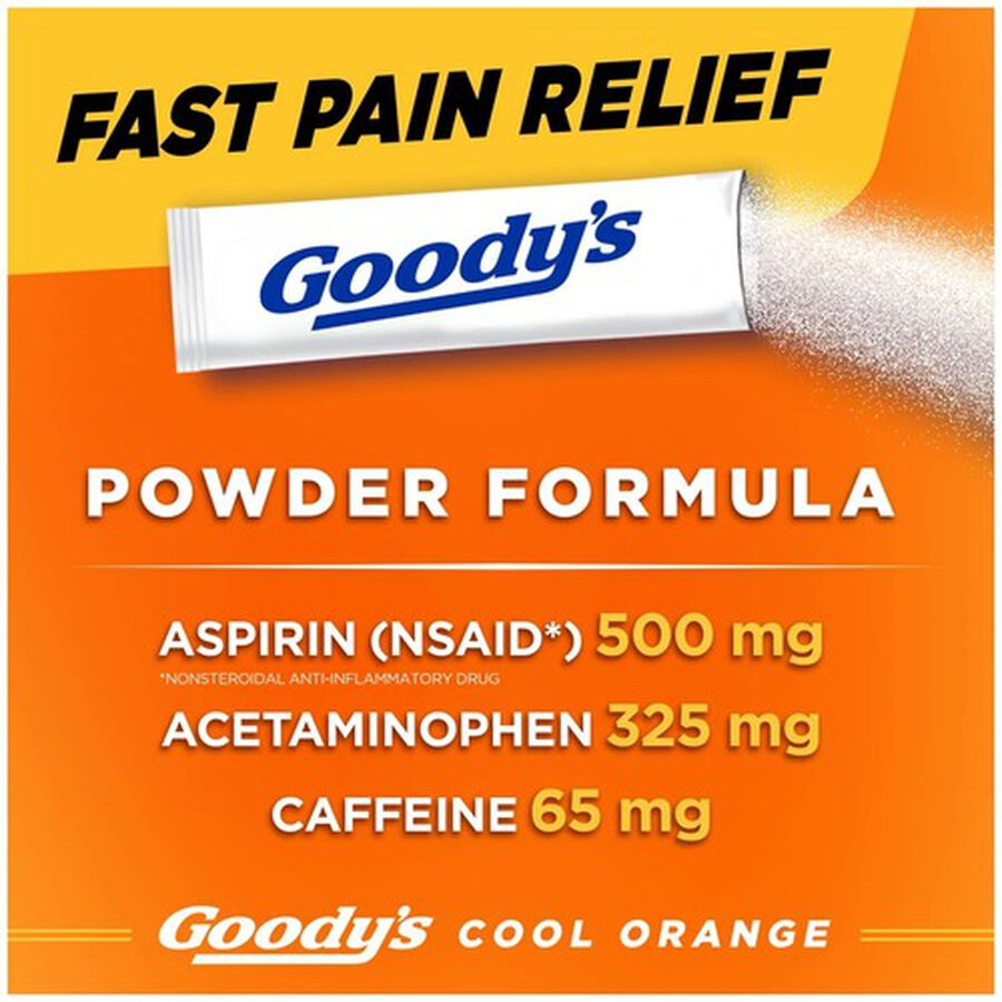 Goody's Cool Orange Acetaminophen / Aspirin Powder Stick, 24ct., , large image number 2