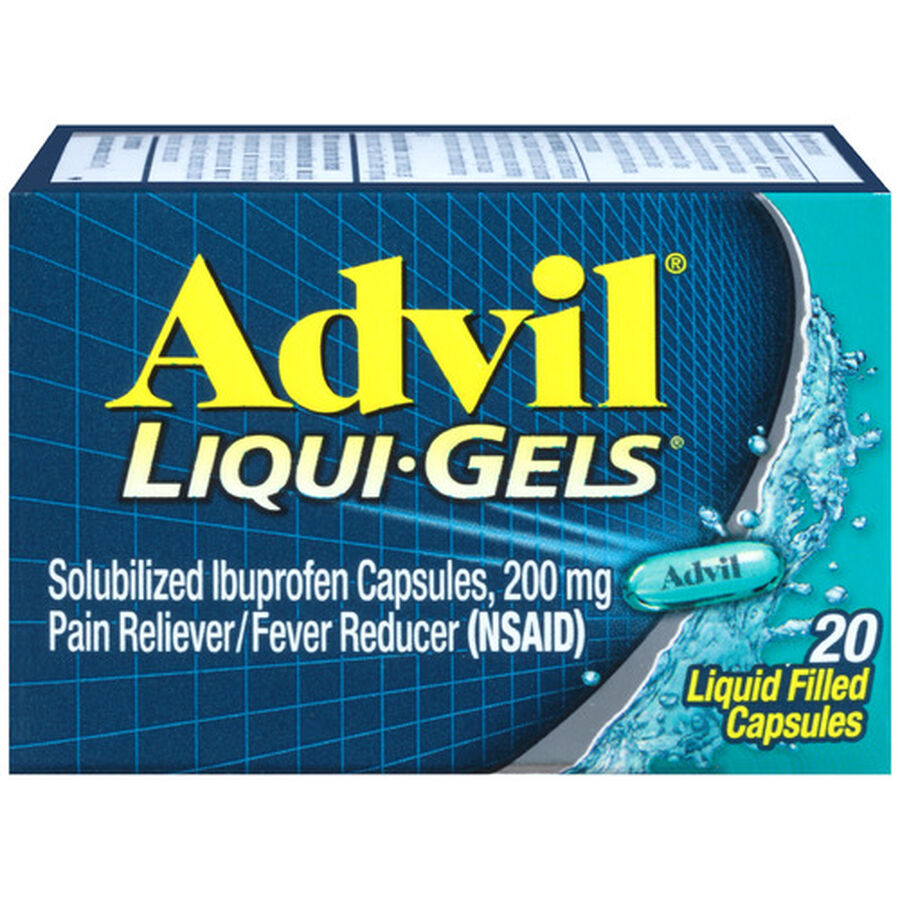 Advil Pain Reliever and Fever Reducer Liqui-Gels, 200mg, , large image number 0