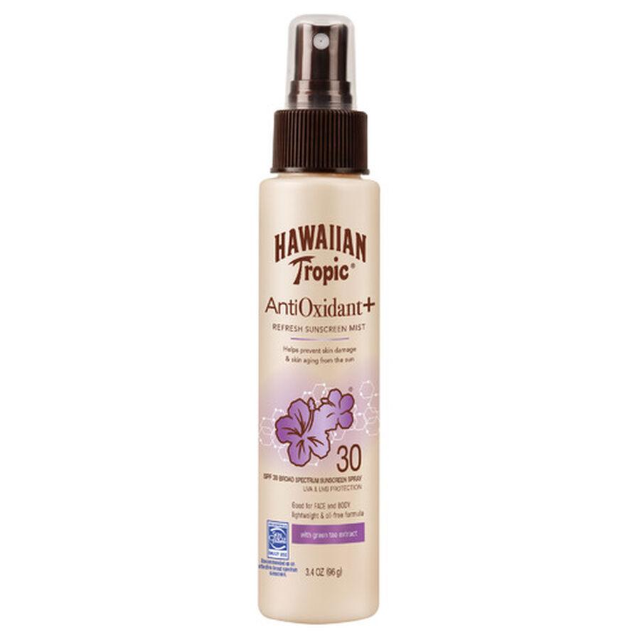 Hawaiian Tropic Antioxidant+ Sunscreen Mist SPF 30, 3.4oz., , large image number 0