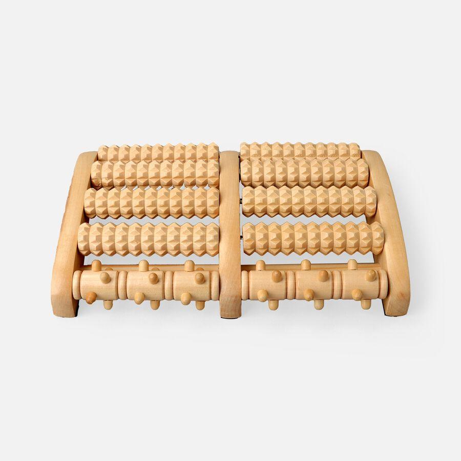 Kanjo Acupressure Foot Pain Relief Multi Roller, Wood, Relieves Plantar Fasciitis, Heel & Arch Pain, , large image number 0