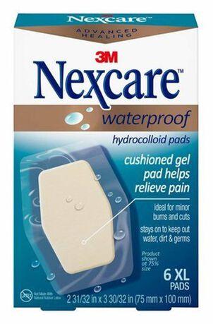 Nexcare Advanced Healing Waterproof Hydrocolloid Pads XL - 6ct