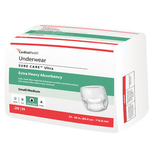 Cardinal Health SURE CARE™ Ultra Underwear with BreatheEasy™ Technology Extra Heavy Absorbency