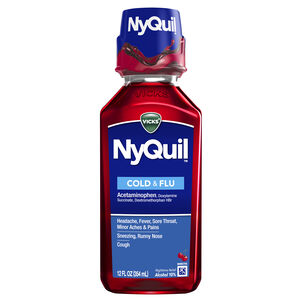 Vicks NyQuil Cold & Flu, Cherry, 12 oz