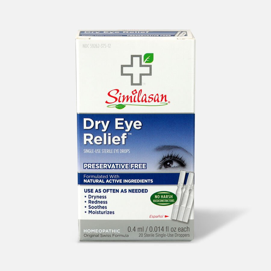 Similasan Dry Eye Relief, 20 Single Use Droppers, 0.014 fl. oz., , large image number 0