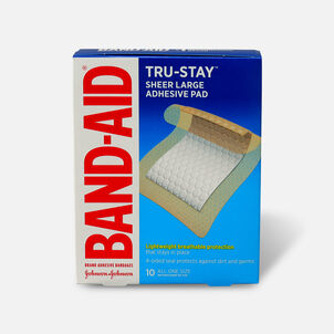 Band-Aid Tru Stay Large Adhesive Pads - 10 ct