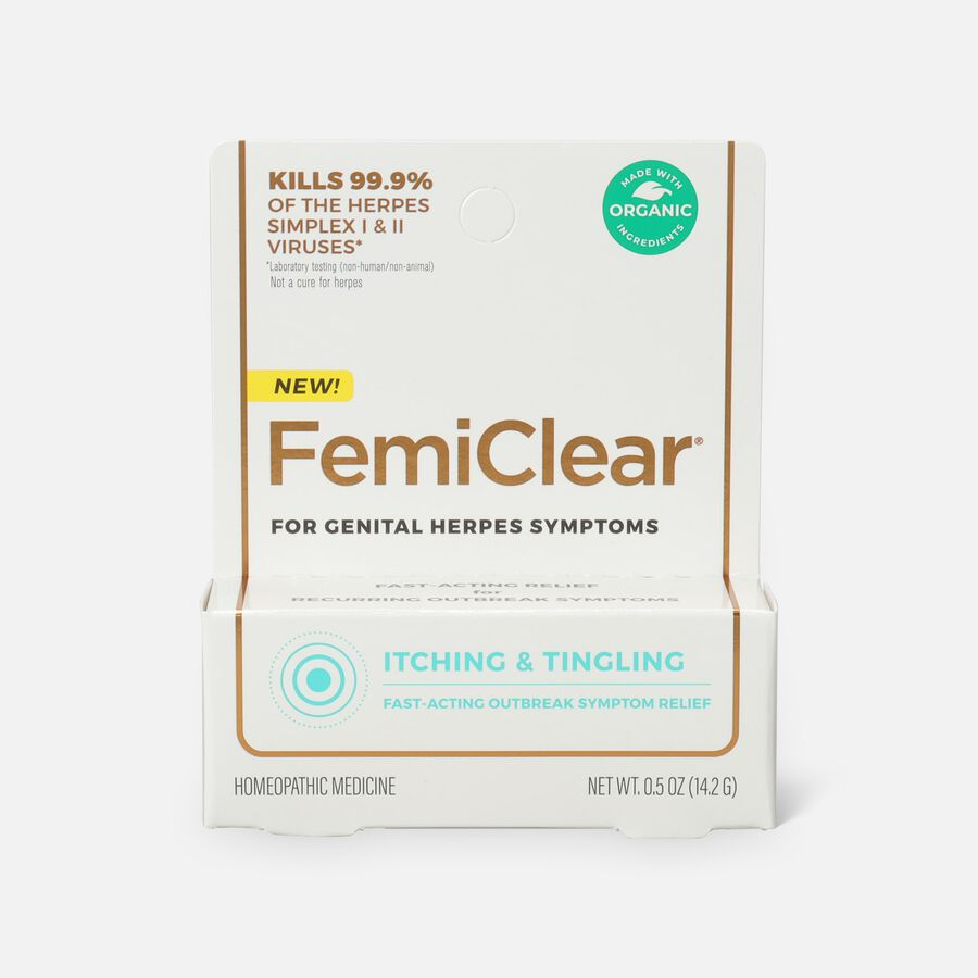 FemiClear Genital Herpes Ointment, Itching and Tingling, 0.5 oz, , large image number 1