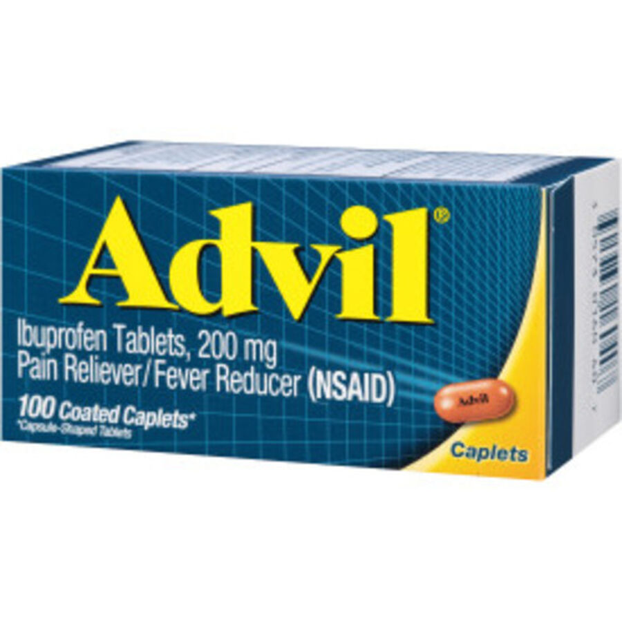 Advil Pain Reliever and Fever Reducer Coated Caplets, 200mg, 100 ct, , large image number 8
