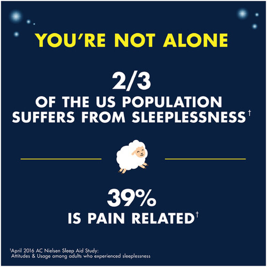 Advil Pain PM Reliever & Nighttime Sleep Aid Coated Caplets, 80 ct, , large image number 9