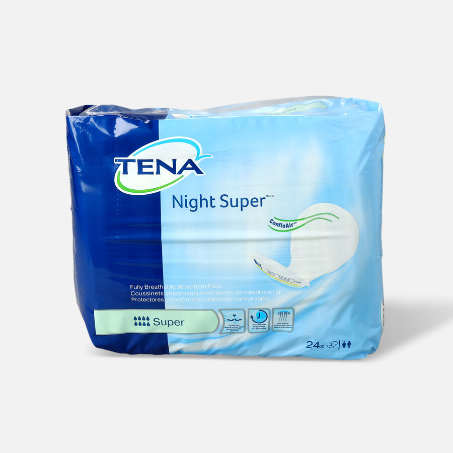 Tena Super Absorbency Night Pads, 24 ea, , large image number 0