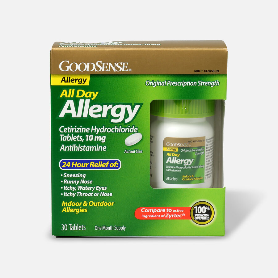 GoodSense® All Day Allergy Relief, Cetirizine HCl Tablets 10 mg, , large image number 3