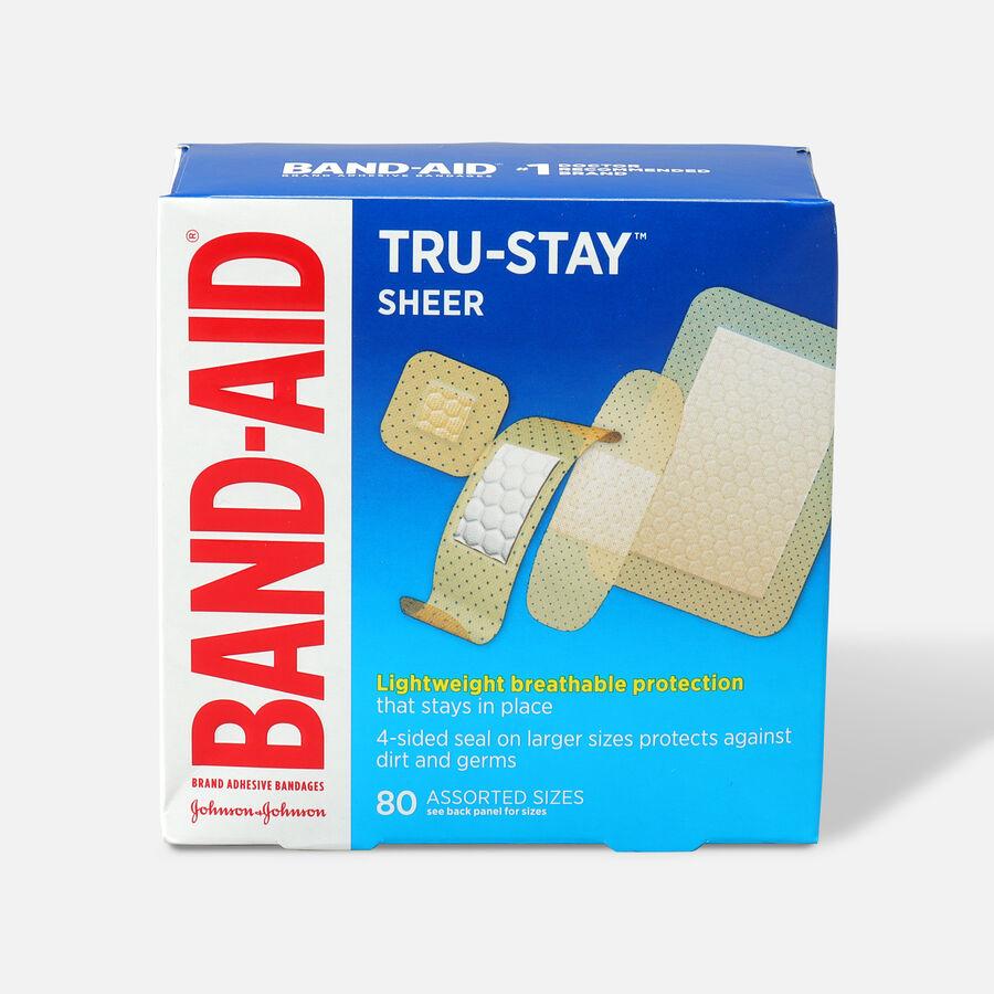 Band-Aid Sheer Adhesive Bandages, Assorted, 80 ea, , large image number 0