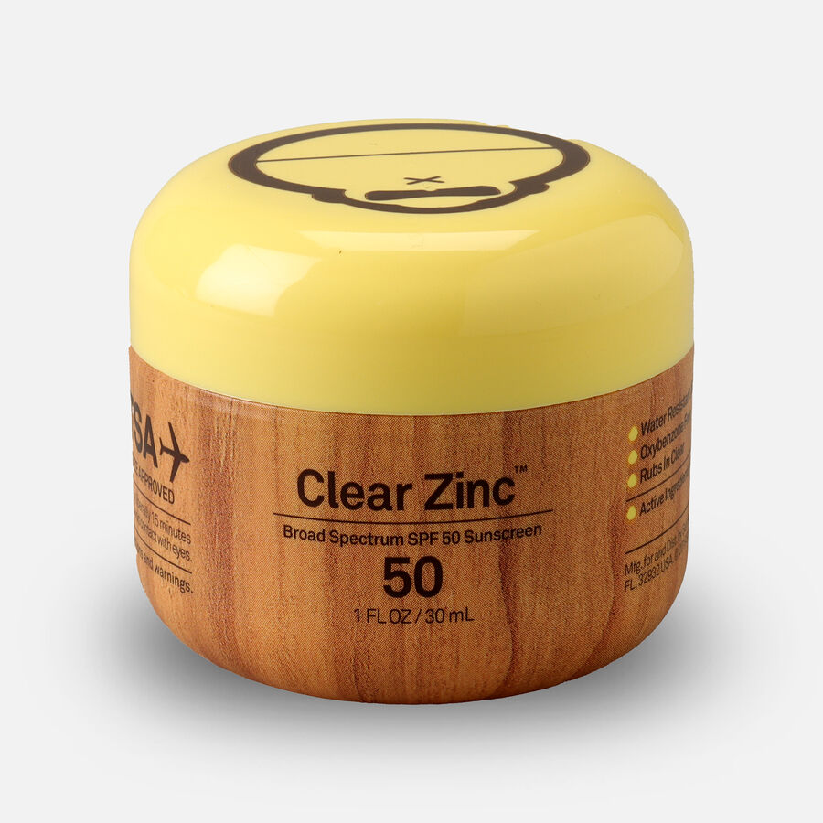 Sun Bum Clear Zinc Oxide Sunscreen, SPF 50, 1 oz Jar, , large image number 1