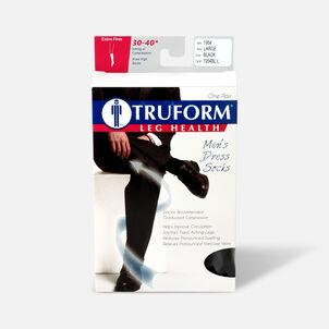 Truform Men's Dress Knee High Support Sock, 30-40 mmHg, Closed Toe