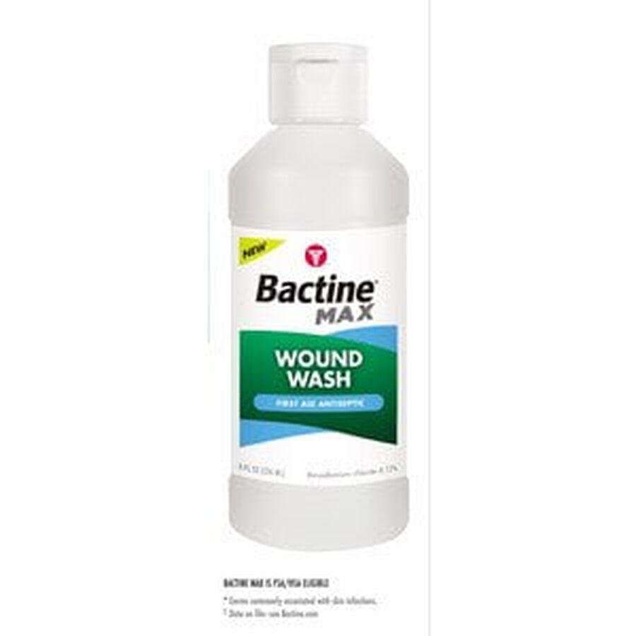 Bactine MAX Wound Wash Liquid, 8 oz., , large image number 1