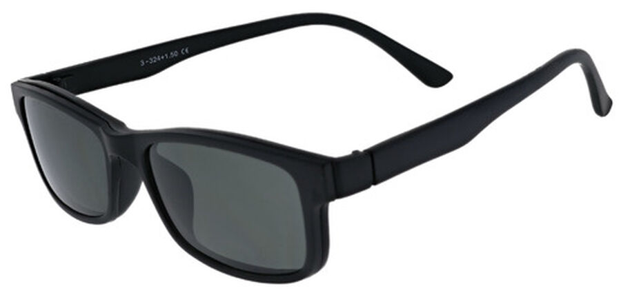 Sunglass Reader with Magnetic Detachable Polarized Lens, +2.00, Black/G15, Black, large image number 4