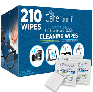 CareTouch Lens Wipes, 210 ct