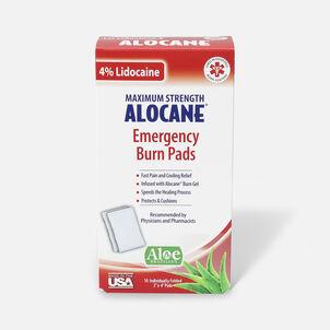 Alocane Maximum Strength Emergency Burn Pads, 10 ct