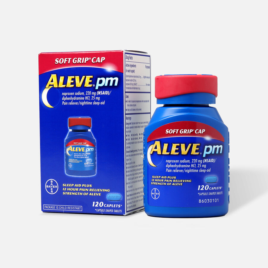 Aleve PM Caplets, Soft Grip Cap, 120ct, , large image number 4
