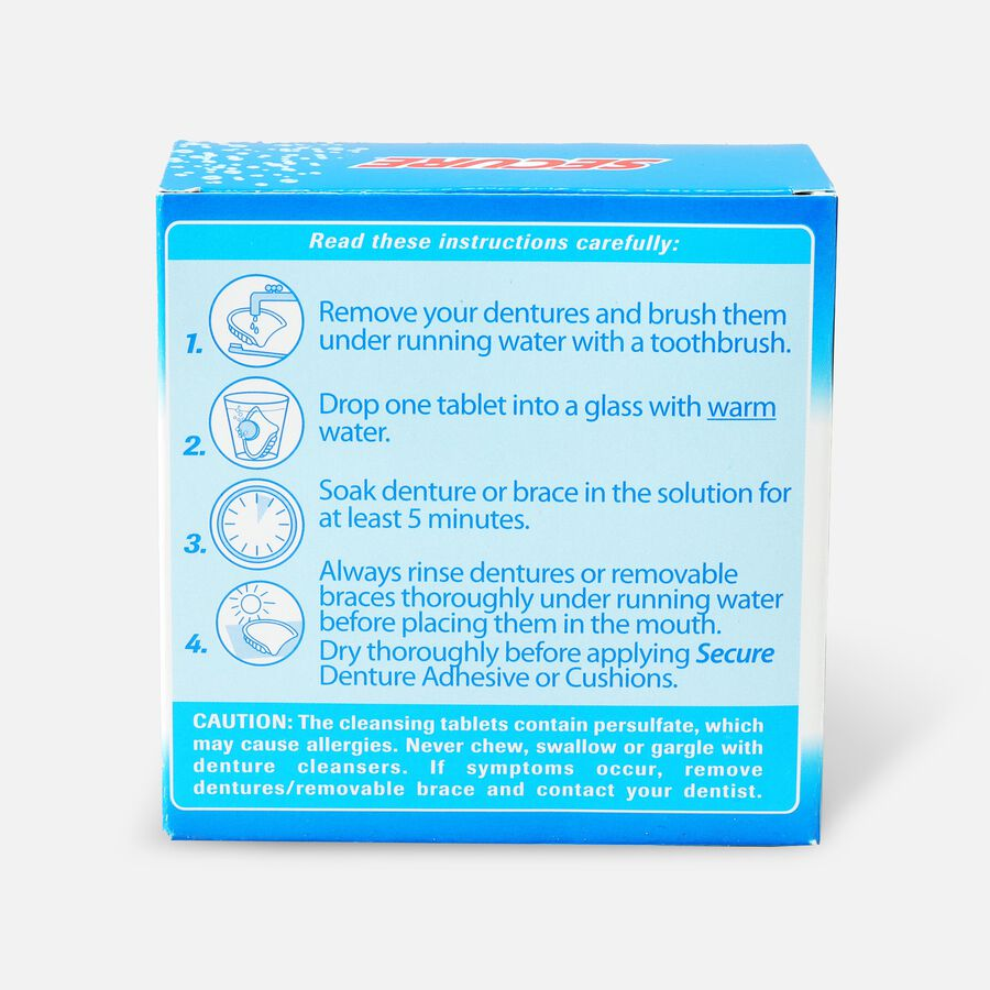 SECURE Cleansing Tablets - 32ct, , large image number 1