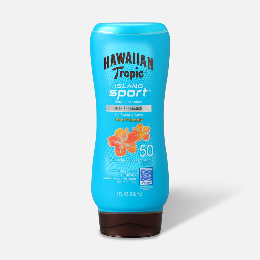 Hawaiian Tropic Island Sport Lotion Sunscreen SPF 50, 8oz., , large image number 0