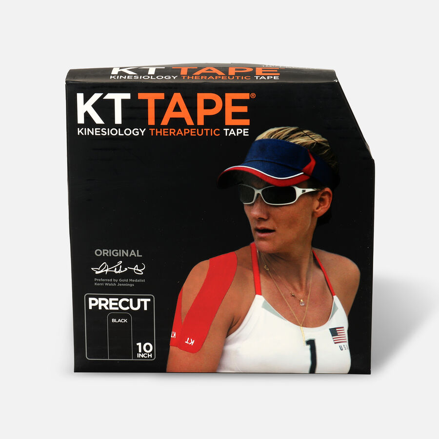 KT Tape Cotton Jumbo Precut Tape, Black, 150 Precut Strips, , large image number 0
