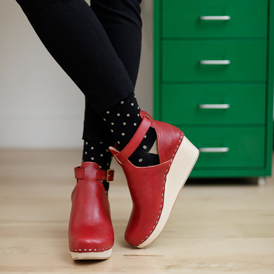 VIM & VIGR Cotton Compression Socks, Petite Dot Black and Tan, 30-40 mmHg, , large image number 4