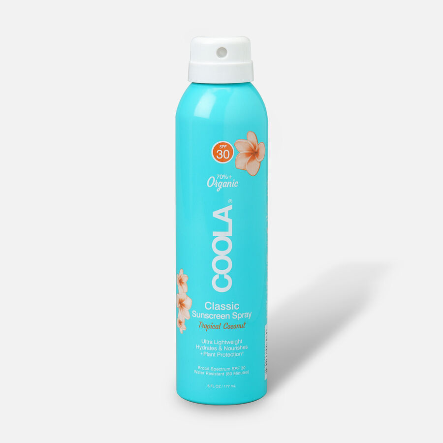 Coola Classic Body Organic Sunscreen Spray SPF 30 Tropical Coconut, 6oz., , large image number 0