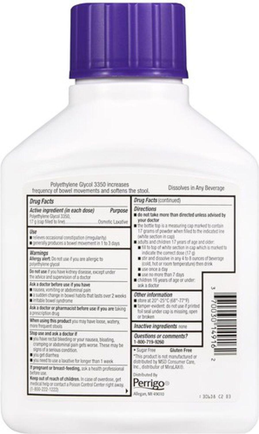 GoodSense® Clear Lax Polyethlene Glycol 3350 17g, 17.9 oz, , large image number 1
