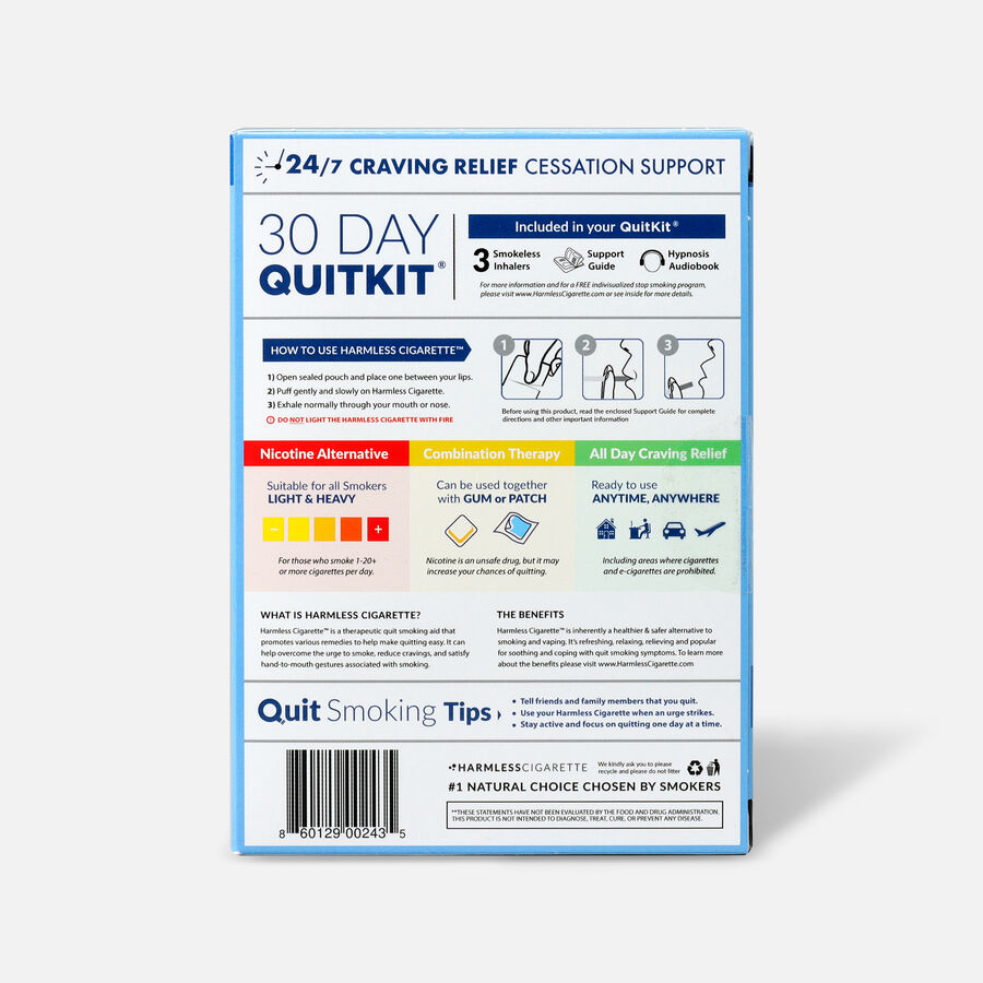 Harmless Cigarette Quit Smoking Aid, 30 Day Quit Kit, Oxygen, , large image number 1