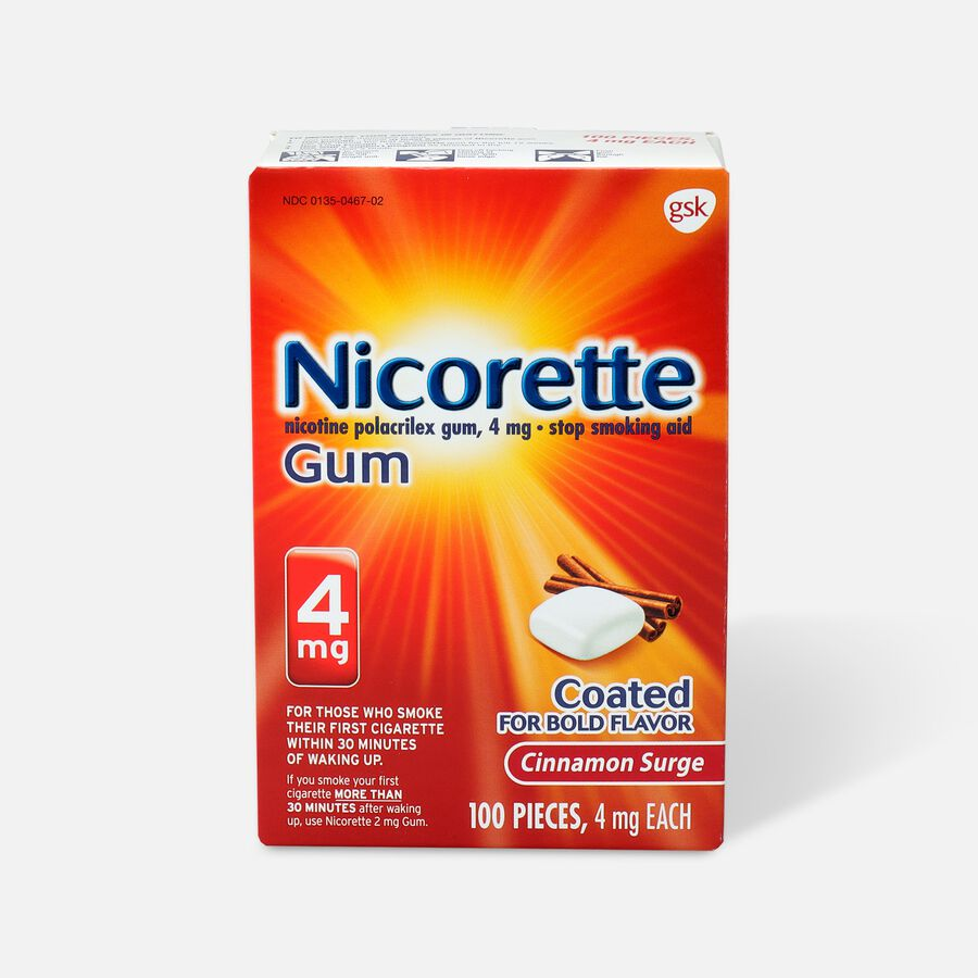 Nicorette Gum Cinnamon, 4mg, 100 ct, , large image number 0
