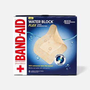 Band-Aid Waterblock Flex Adhesive Pad Bandage, 6 ct