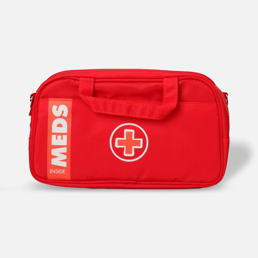 AllerMates Ruby Red Meds Insulated Medicine Bag Case for Allergy & Asthma Meds, , large image number 0