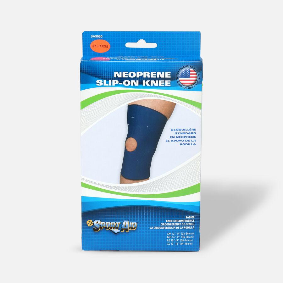 "Sportaid Neoprene Slip-On Knee Brace Open Patella, Blue XL 17""-19"", 1 ea, , large image number 0"