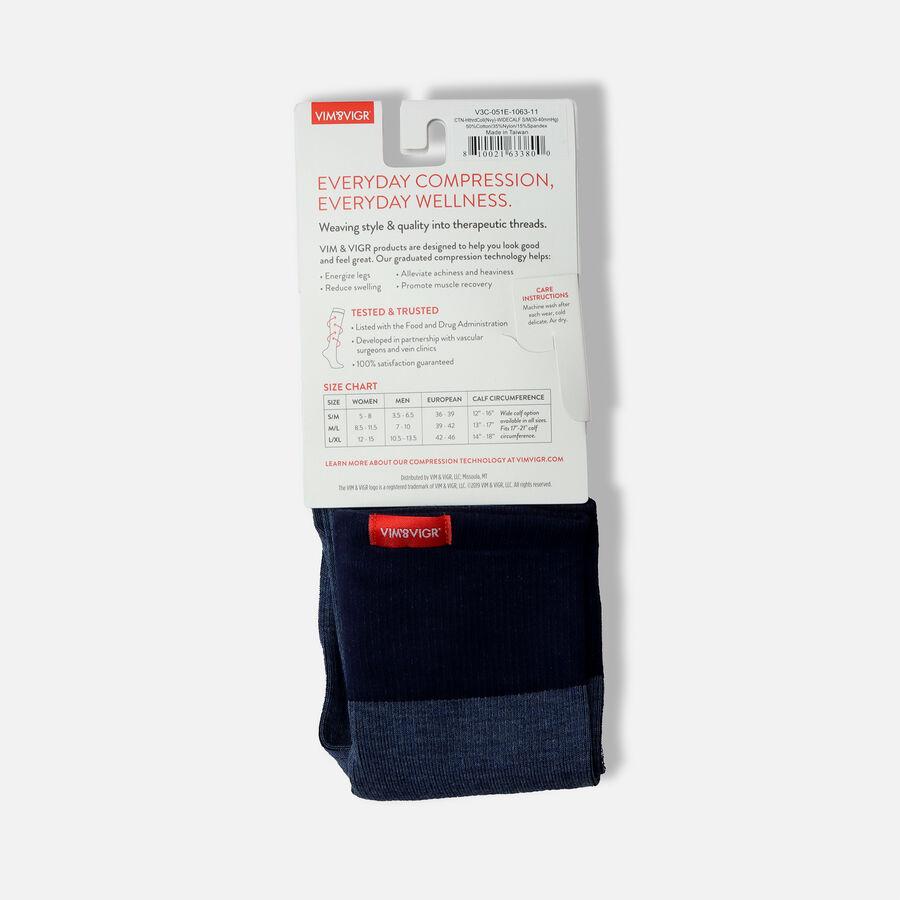 VIM & VIGR Cotton Socks, Heathered Collection Navy, 30-40 mmHg, , large image number 17