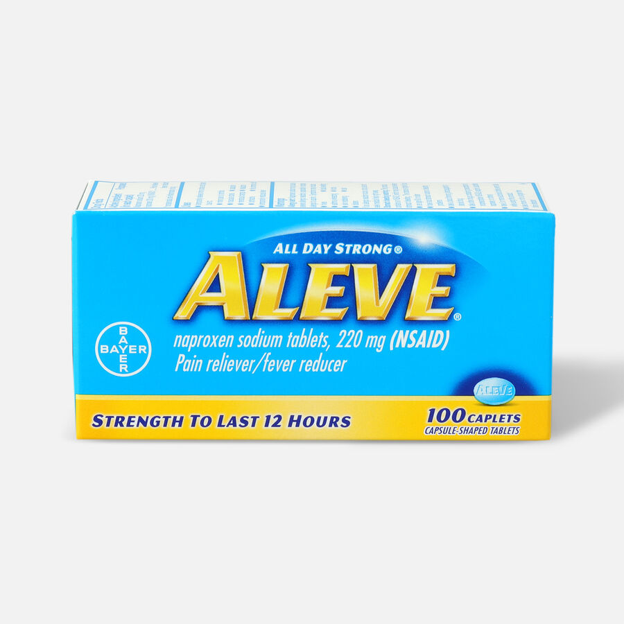 Aleve All Day Strong Pain Reliever, Fever Reducer, Caplet, 100 ea, , large image number 0