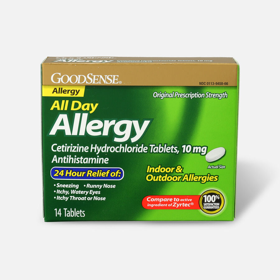 GoodSense® All Day Allergy Relief, Cetirizine HCl Tablets 10 mg, , large image number 0