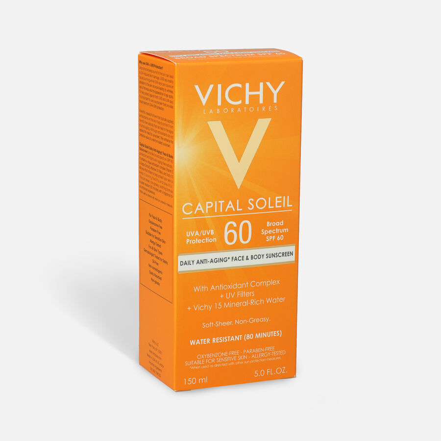 Vichy Idéal Capital Soleil SPF 60 Ultra-Light Body and Face Sunscreen with Antioxidants, 5.0 Fl. Oz., , large image number 1