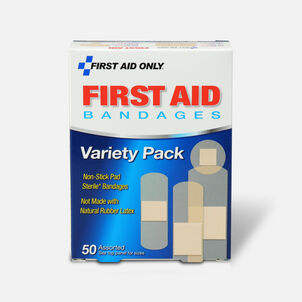 First Aid Only Sheer Strips Bandages, Assorted Sizes - 50ct