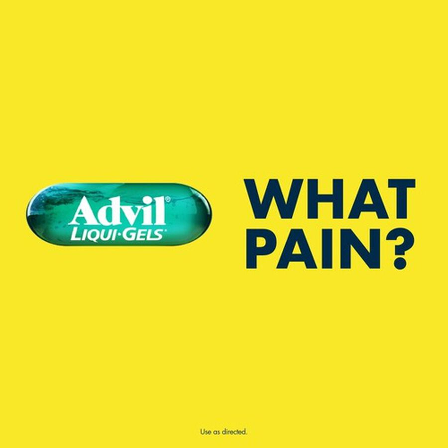 Advil Liqui-Gels Pain Reliever and Fever Reducer, Solubilized Ibuprofen 200mg, 40 Count, Liquid Fast Pain Relief, , large image number 6