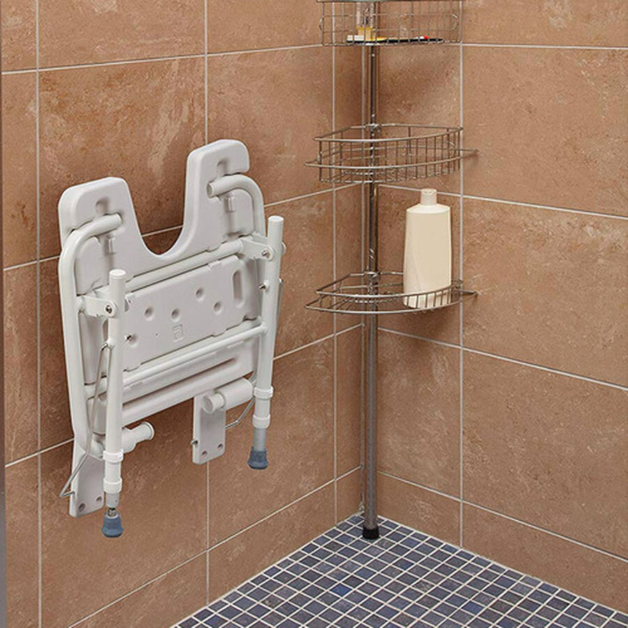 Healthsmart® Wall Mount Fold Away Shower Seat Bench, , large image number 5