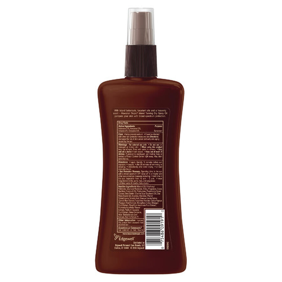 Hawaiian Tropic Dry Pump Spray Oil, 8oz., , large image number 1