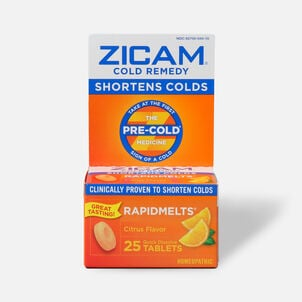 Zicam Cold Remedy Homeopathic Rapid Melts, 25 ea