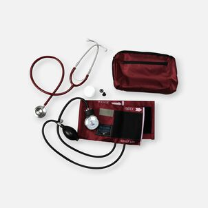 MatchMates Dual Head Stethoscope Combination Kit, Burgundy